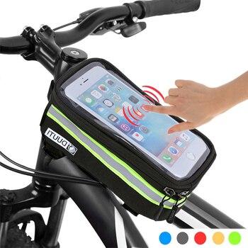 Bolsa de bicicleta impermeable, bolsa de Ciclismo de nailon para bicicleta, funda de 4,8 5,7, bolsa de marco de Panniers para bicicleta, accesorios de ciclismo