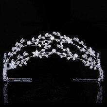 Tiaras And Crown HADIYANA Gorgeous Temperament Bride Wedding Hair Jewelry Women Party Headpiece Zirconia BC4891 Corona Princesa
