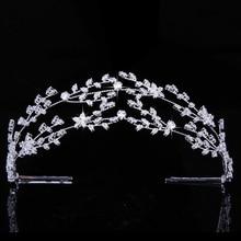ティアラと王冠 hadiyana ゴージャスな気質の花嫁のウェディング髪の宝石女性パーティージルコニア BC4891 コロナプリンセサ