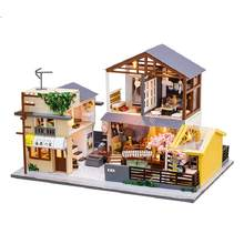 Wooden house diy doll house creative gifts Japanese-style building doll house Christmas birthday gift(China)