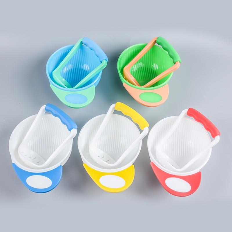 Детские пищевые комбинаты и контейнер, набор чаш, Ручная шлифовка, миски для детского питания