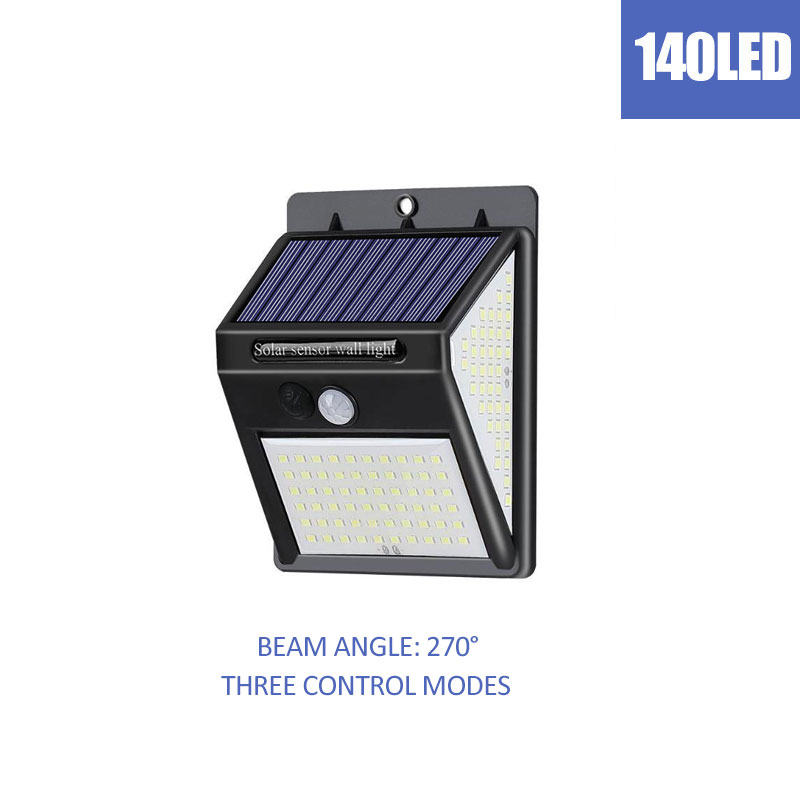 146LEDs Solar Wall Light Cold Warm Led Outdoor Solar Wall Lamp For Fence Stair Pathway Yard Security Solar Lamp Bulb