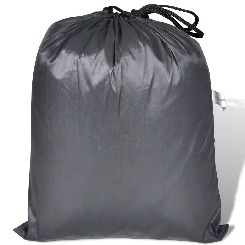 Vidaxl Motorcycle Cover Grey Polyester Furniture Accessories Motorcycle Tools Bike Cover Easy Fitting For All Seasons