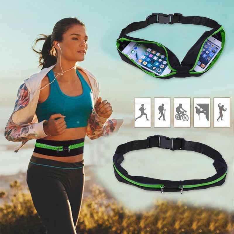 Saku Jogging Portabel Tahan Air Bersepeda Tas Tas Olahraga Menjalankan Pinggang Tas Ponsel Outdoor Anti-Theft Pack Sabuk Tas