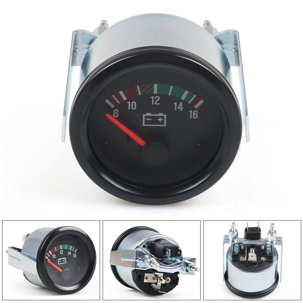 Измеритель напряжения для автомобиля, измеритель напряжения с желтым свесветильник, 2 дюйма, 52 мм, 12 В/24 В