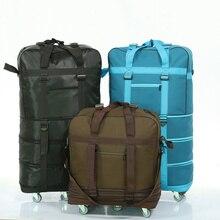 Sac de voyage pliable pour aviation boîtier de chariot 158, sac de voyage avec roues, sac pour bagages de grande capacité en tissu Oxford
