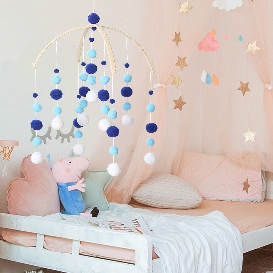 Toys Sounding Diy Colorful Bed Bell Bells Bells Mobile Carboy Car Toys For Baby Photography Accessories Gifts Toy For Newborns