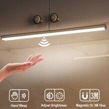 LED Under Cabinet Lights Hand Sweep Sensor Lamp 30 40 50cm Motion Sensor Light Wardrobe Closet For Bedroom Kitchen Light Home