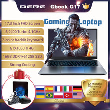 Dere GBook G17 Intel Core i5 9400+GTX1050 Gaming Laptop Computer FHD 1920*1080 8G/16G RAM 1TB/256G/512G SSD Windows Notebook PC