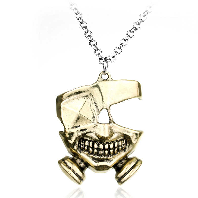 Anime Tokyo Ghoul masque collier Tokyo Gourmet porte-clés pendentif adulte Applicable cadeau horreur casse-cou glisser noeud masque cosplay
