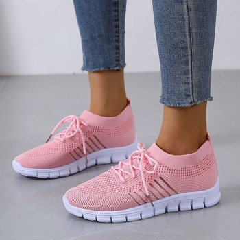 Fashion Women's Sneakers Mesh Casual Lace-up Sport Shoes Women Running Shoes For Men Lovers Breathable Shoes Sneakers 1