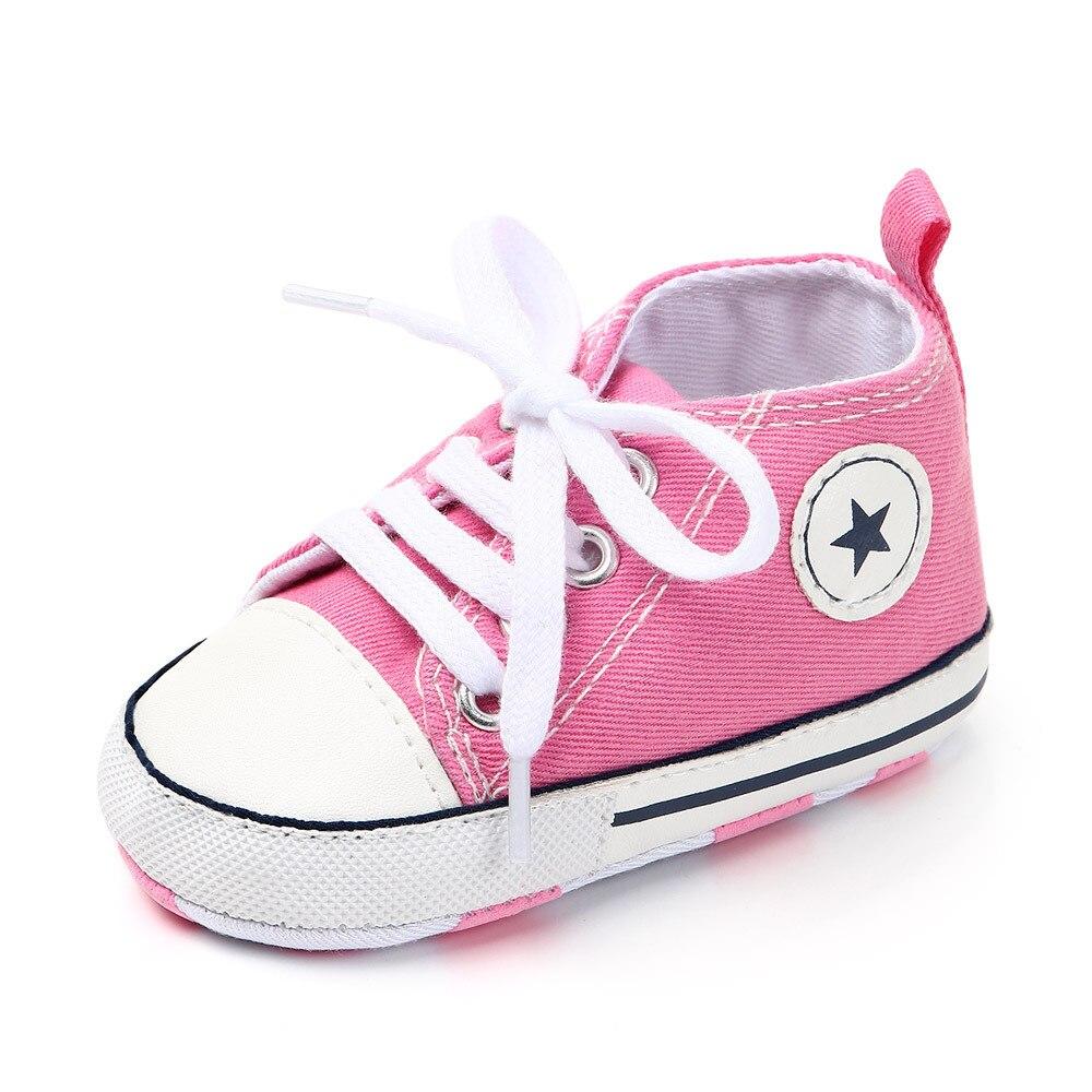 Chaussures bébé Garçon Fille Solide Sneaker Coton Doux Semelle Antidérapante Nouveau-Né Infantile Premiers Marcheurs Bambin décontracté Sport Chaussures de Berceau 28