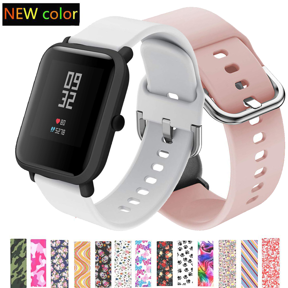 Silicone Watch Strap For Amazfit Bip Strap Band 20mm Band  Galaxy Watch Active /Garmin Vivoactive 3