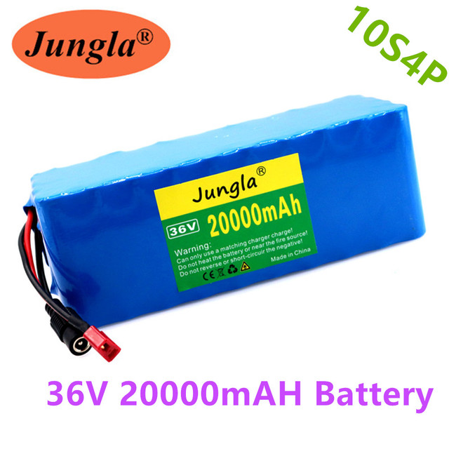 36V 10S4P 20Ah 100% 36v 18650 Battery 500W 42V 20000mAh Battery Pack for Ebike Electric Bike with BMS+1Charger