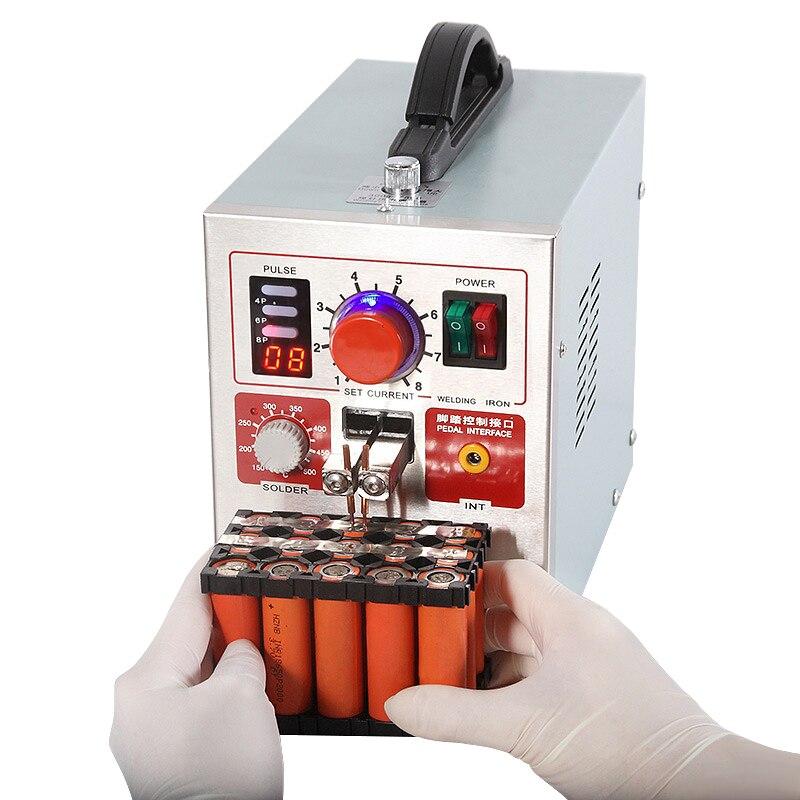 Tools : SUNKKO 709AD Spot Welder 2 2KW High Power Digital Display Pulse Spot Welding Machine Handheld Pen For 18650 Lithium Battery Weld