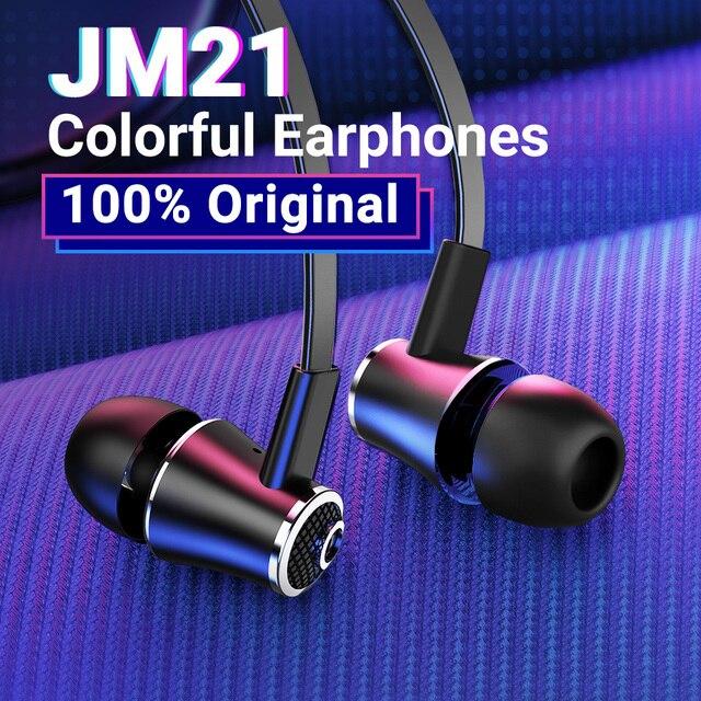 Langsdom Mijiaer JM21 In ear Earphones For Phone iPhone Huawei Xiaomi Headsets Wired Earphone Earbuds Earpiece fone de ouvido 1