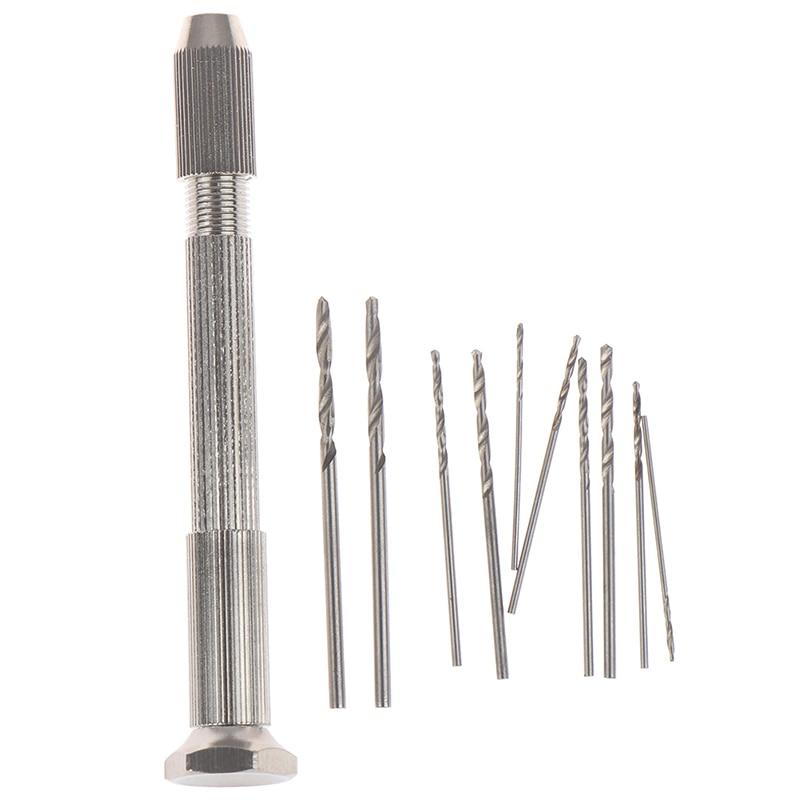 Один набор ручная дрель с 10 дрель HHS долото для сверл инструмент для ремонта часов PCB