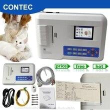 Ветеринарный 3 канала ЭКГ машина 12 свинца ЭКГ электрокардиограф принтер для ветеринара
