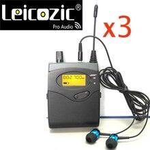 Leicozic 3 miếng BK2050 Máy Thu SR2050 IEM Màn hình máy thu cho màn hình hệ thống & Tai nghe nhét tai màn hình sân khấu chuyên nghiệp màn hình