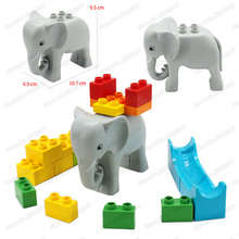 Childrens Building Blocks Toys Animal Forest Elephant City Pet Educational Large Particles Legoingly Duploinglys Christmas Gift