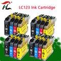 Совместимый чернильный картридж LC123 LC121 для принтера Brother DCP-J552DW J752DW J132W J152W J172W MFC-J470DW J650DW J870DW
