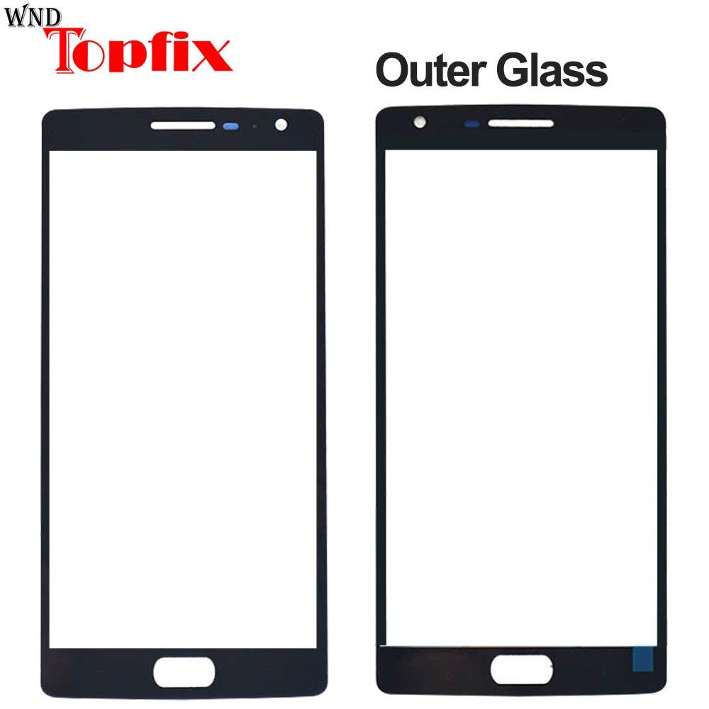 Переднее стекло для Oneplus 2 3 3T, внешняя стеклянная панель, замена для Oneplus 5 6 5T 6T, внешнее стекло, передняя панель
