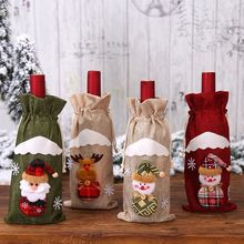 2019New Santa Claus Wine Bottle Cover Christmas Decorations for Home New Year Xmas Decor Red Covers