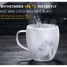 Wine Mug Glass-Cups Coffee-Mug Beer Double-Wall Vodka Milk 1PC Whiskey Kitchen-Supplies
