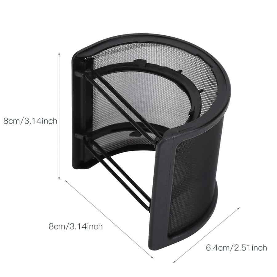 Piccolo Multi-Strato di Figura di U Microfono Studio di Registrazione Scudo Microfono Filtro Maschera Parabrezza Anti Mic Filtro Metallico Flessibile