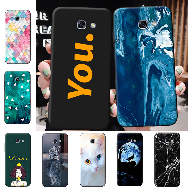 Silicone <font><b>Phone</b></font> <font><b>Cases</b></font> For <font><b>Samsung</b></font> <font><b>A5</b></font> 2015 <font><b>2016</b></font> 2017 Slim Soft Matte TPU Coque For Galaxy <font><b>A5</b></font> Protective Cover for A500 A510 A520 image