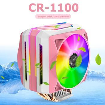 Jonsbo CR1100 6 Heat Pipes 5V ARGB Lighting Desktop Cooling Radiator Tower Type Computer CPU Cooler Fan for Intel/AMD