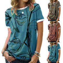 Lustige Printed Kurzarm T-shirts Frauen Sommer Casual Rundhals Oversize Harajuku Tsclothing Pullover Vintage Tops Frauen T-shirt