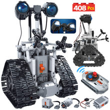 ERBO 408PCS City Creative RC Robot Electric Building Blocks Technic Remote Control Intelligent Robot Bricks Toys For Children(China)