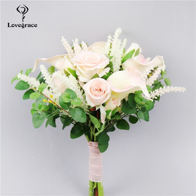 Artificial Roses Wedding Bouquet