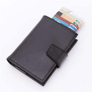 Image 2 - BISI GORO 2019 New Style RFID Card Holder And Minimalist Wallet Metal Men Women Single Box Aluminium Blocking Holder for Cards