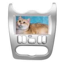 Autoradio pour RENAULT Logan Sandero DACIA Duster, adaptateur avec cadre, panneau CD, lunette de tableau de bord, 2 din
