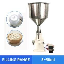 Envío Gratis YTK 5 ~ 50ml máquina de llenado neumático para crema y champú y cosméticos con pedal A02