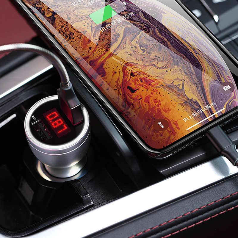 شاحن سيارة 2 منافذ USB شحن سريع شاحن سبيكة للمركبة صفقات هاتف ذكي JR