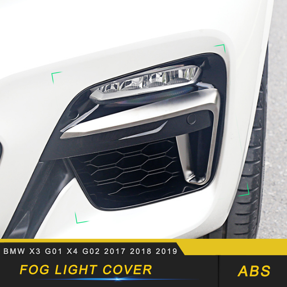 For BMW X3 G01 X4 G02 2017-2019 Car Front Grille Grill Net Sheet Fog Light Protector Frame Decorations Exterior Parts