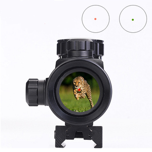 1X40 Red Dot Sight Scope Tactical Rifle Scope Green Red Dot Collimator Dot Ontmoette 11 Mm/20mm Rail Mount Sight Scope Airsoft