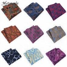 Матагорда различные модный мужской платок 100%шелк карман квадратный платок Пейсли л кешью галстук коктейльное галстук Гравате