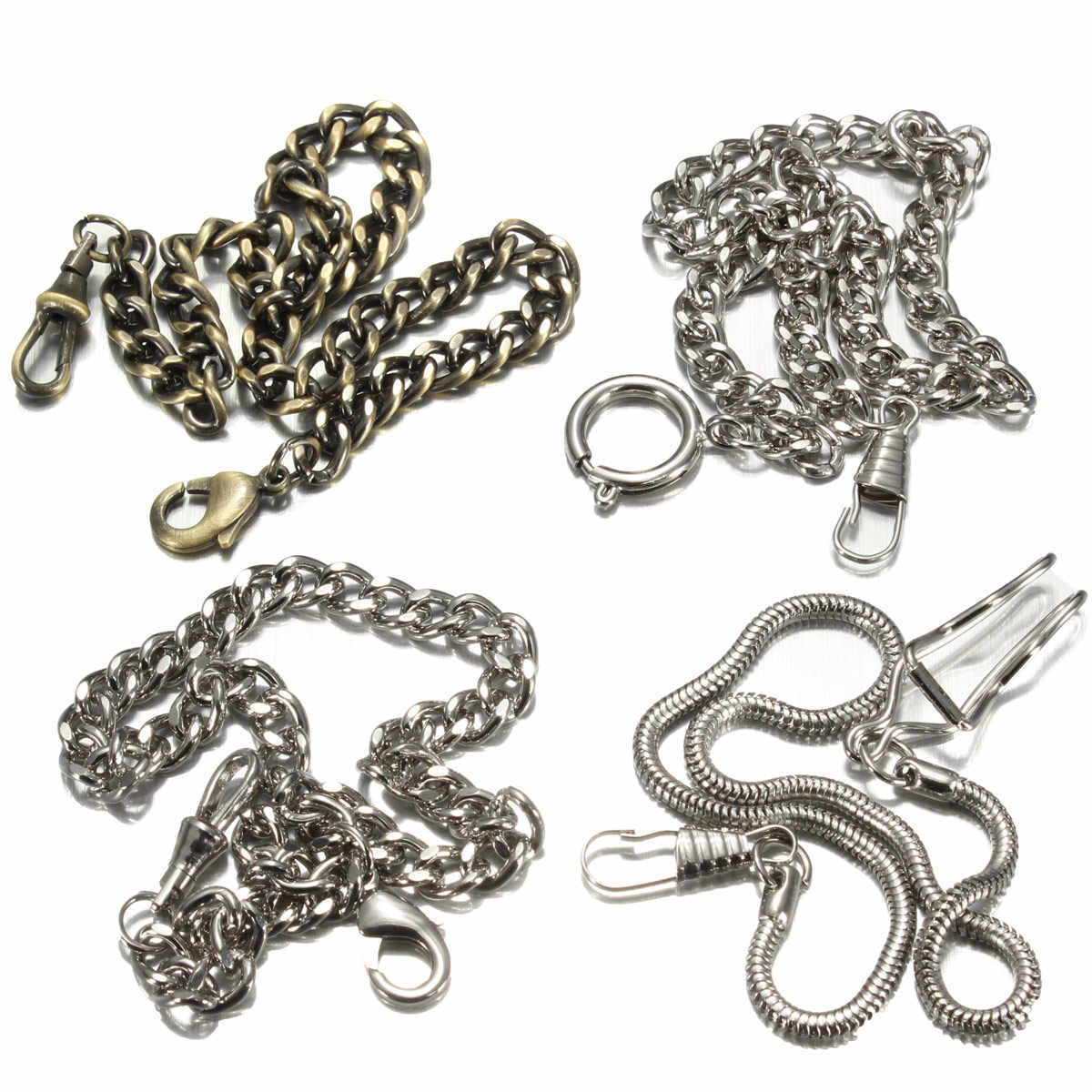 4 Types Bronze/argent Style Vintage montre de poche chaîne alliage montre de poche chaîne pour hommes femmes de haute qualité nouveau