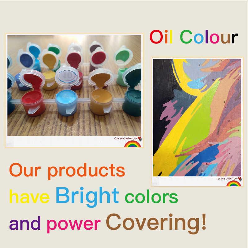 Женщины в дождь ручной работы Краска высокого качества Холст Красивая краска ing по номерам Сюрприз подарок большое удовлетворение