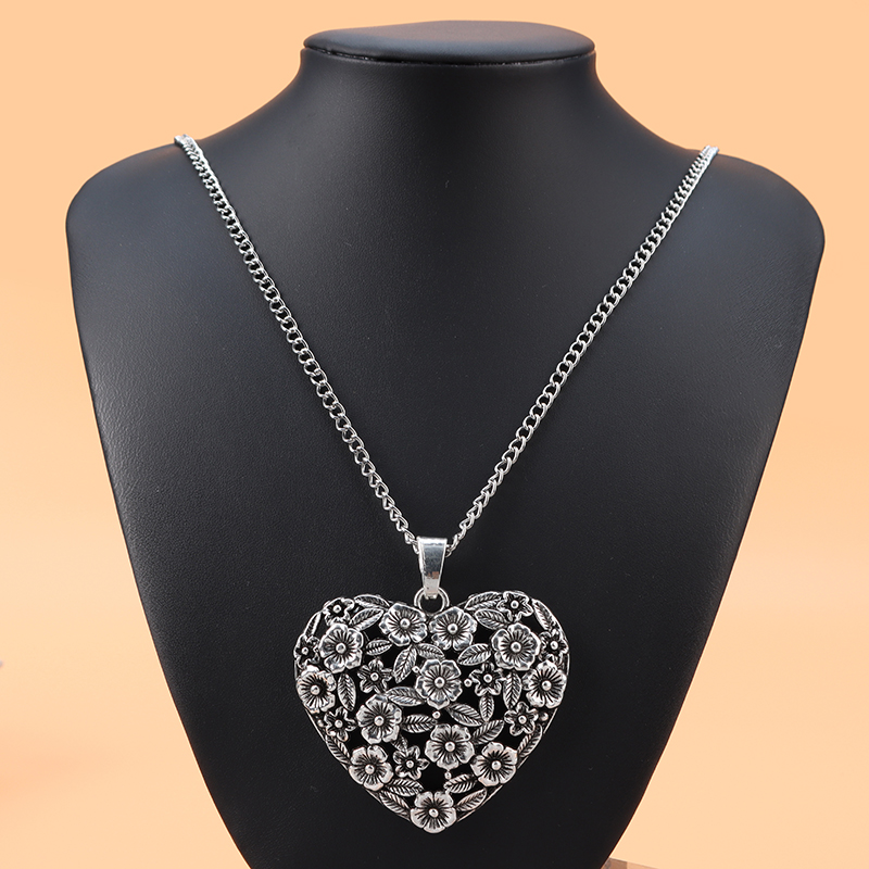LARGE Heart Floating charm Leather Cord LONG Drop Lagenlook Style pendant  UK