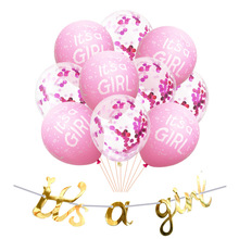 Amazon Fast Sell Hot Sells New Company Gold Its a boy/girl Laflower Latex Balloon Package