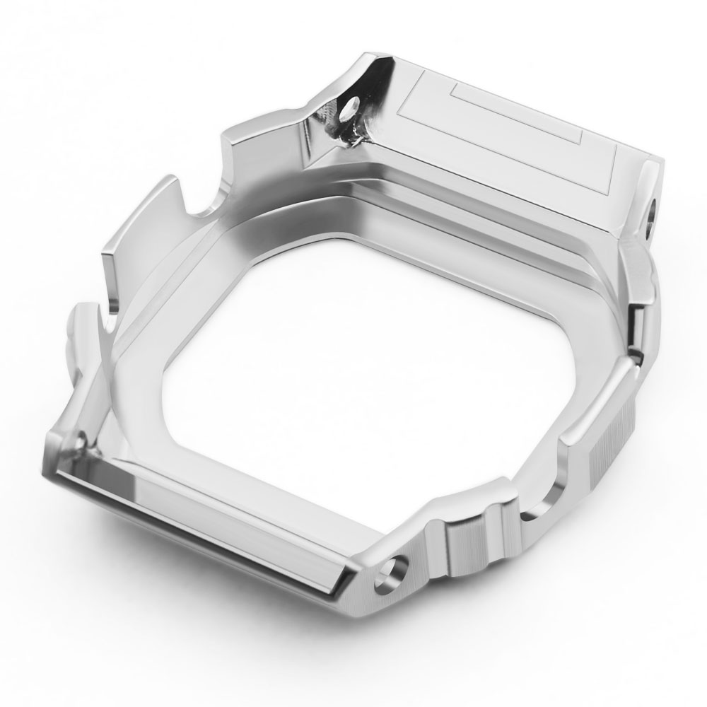 Rétro 5600 métal lunette couverture Bracelet de montre GWM5610 DW5600 montre Bracelet et boîtier lunette en acier inoxydable Bracelet en acier cadre de ceinture + outils-in Bracelets from Montres    3