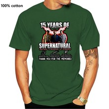 15 Years Of Supernatural 2005-2020 15 Seasons 327 Episode Thank You For The Memories (New Version) T-Shirt