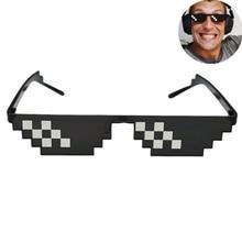 8 Bit Thug Life gafas de sol pixeladas hombres mujeres marca gafas de sol de fiesta mosaico UV400 Vintage gafas de regalo Unisex gafas de juguete