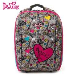 Delune Kids 7-125 mochila ortopédica resistente al agua mochila escolar con patrón de dibujos animados de alta calidad de 5-9 años bolsas escolares para niños y niñas