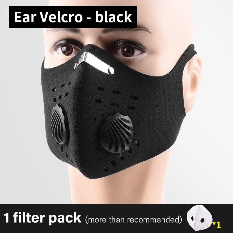 Masker Sport Gezichtsmasker Met Filter Actieve Kool Running Training Mtb Bike Cycling Masker